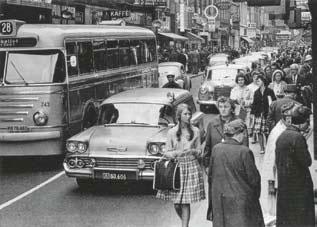 Kööpenhaminan Stroget 1960