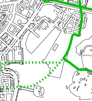 Nykyisten suunnitelmien mukaan baana kulkee Capellan puistotietä, Parrulaituria ja Aallonhalkojaa pitkin kaksisuuntaisena.