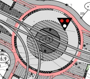 Hyvä liikenneympyrä on ympyrä myös pyöräliikenteelle. Osa Rakennusviraston katusuunnitelmasta 29640/1.