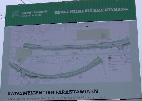 """""""Hyvää Helsinkiä rakentamassa."""" Ratasmyllyntiestä tuli pyörätieprojekti."""