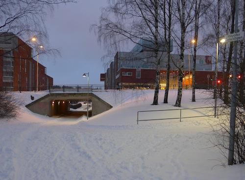 Tuleva Itäbaana kulkee Marjaniementien alikulun kautta ja jatkuu Gotlanninkadulla.