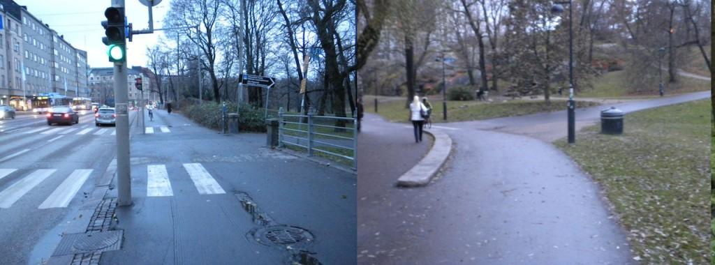 Pyörätien ei osoiteta merkillä jatkuvan, joten se päättyy risteykseen, vai päättyykö? Entä onko oikeanpuoleinen risteävä tie pyörätie vai ajorata?