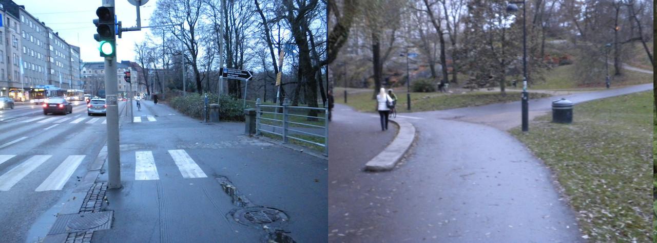 Saako pyörätiellä kävellä