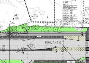Pohjantien katusuunnitelma