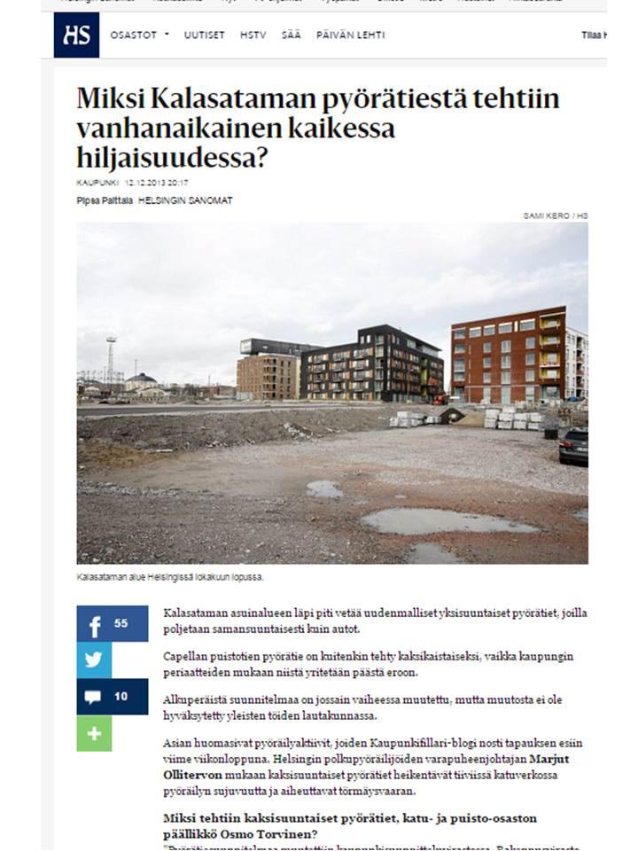 Helsingin Sanomat ihmettelivät samaa 12. joulukuuta 2013