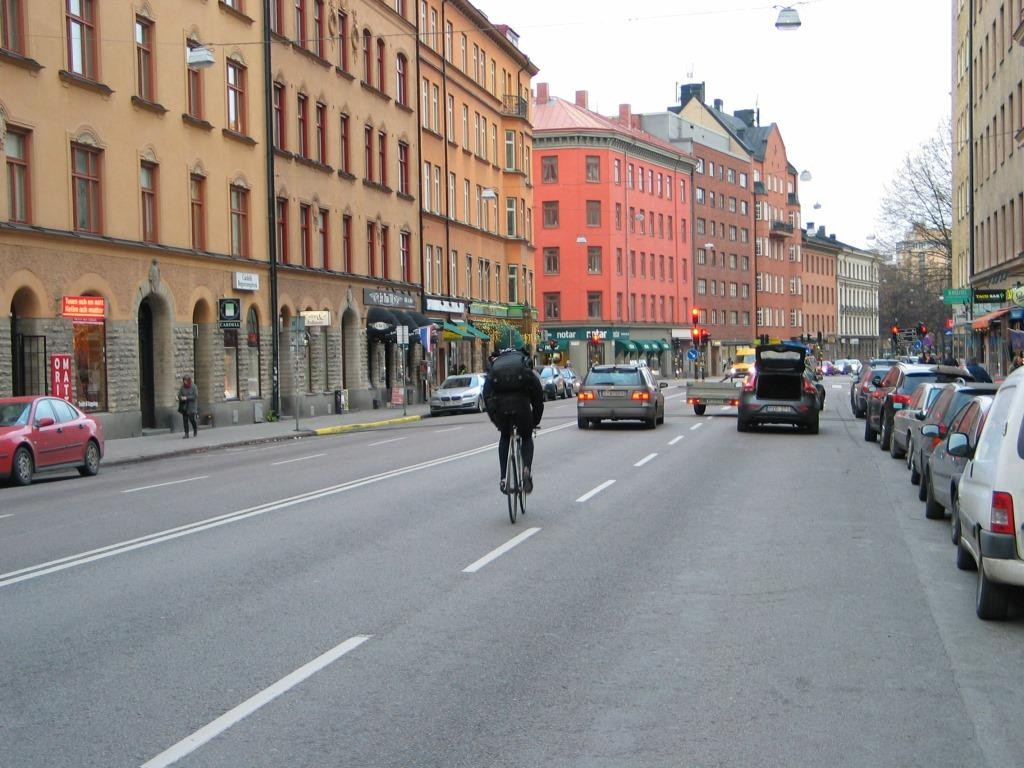 Normaalia arkea Folkungagatanilla.