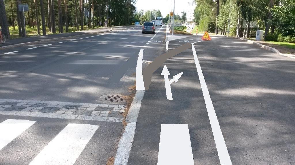 Nopea kuvamuokkaus jotta pyöräily onnistuu. Tämän lisäksi tarvitaan ennakko-opaste, mistä selviää minne alakautta pääsee.